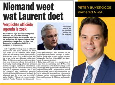 Artikel Het Nieuwsblad prins Laurent